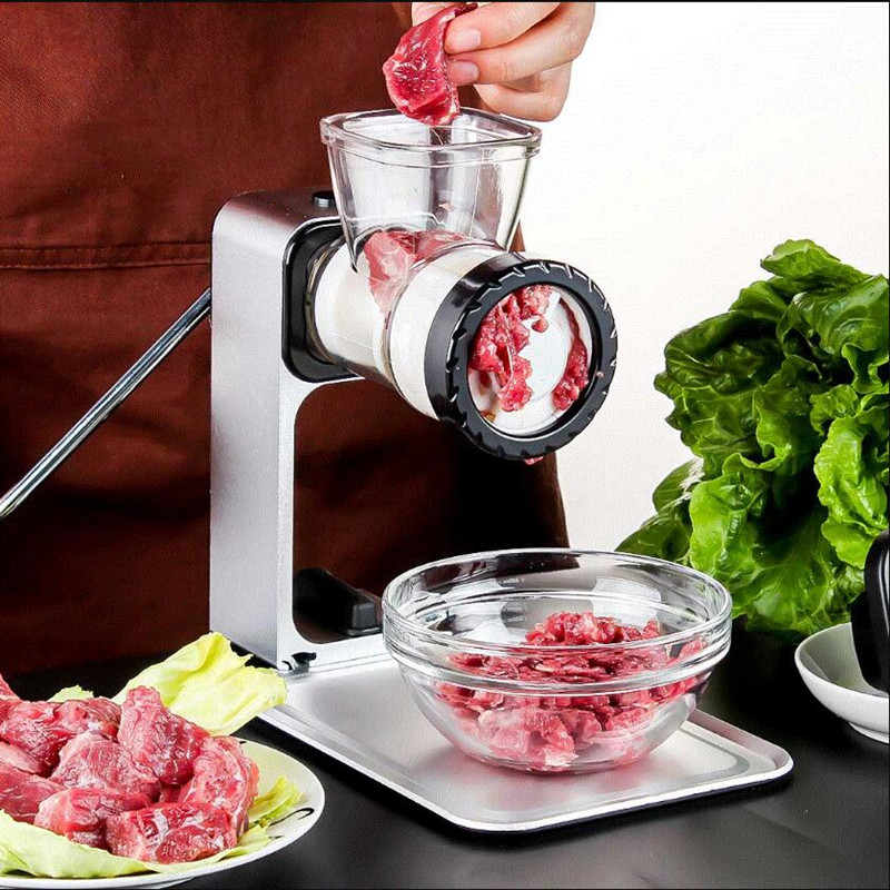 Upgrade Manual Meat Grinder Mincing Machine for Home Vegetable Mincer Meat Slicer Fish Grinder Kitchen Sausage Machine manual meat slicer mincer cast iron meat grinder machine sausage stuffer filler table crank tools home kitchen vegetable cutter