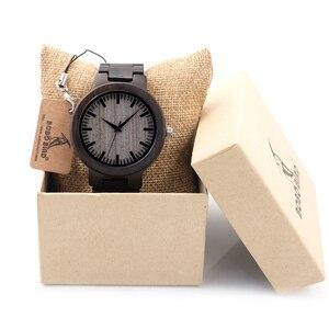 Image 3 - BOBOBIRD C30 Ebenholz Holz Uhren Für Herren Uhren Top marke Luxus Quarz Uhren Mit Geschenk Box