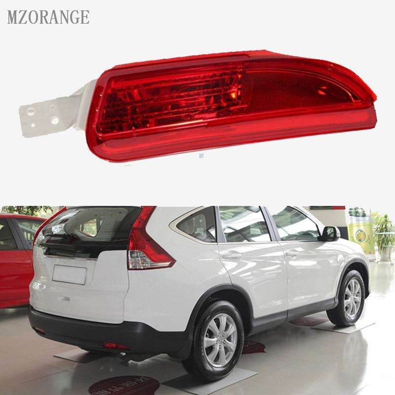 MZORANGE Left/Right Reflector Light Fog Light Brand New For HONDA CRV 2012 2013 2014 RM1 RM2 RM3 RM4 Rear Bumper Fog Lamp mzorange new 1 pair left