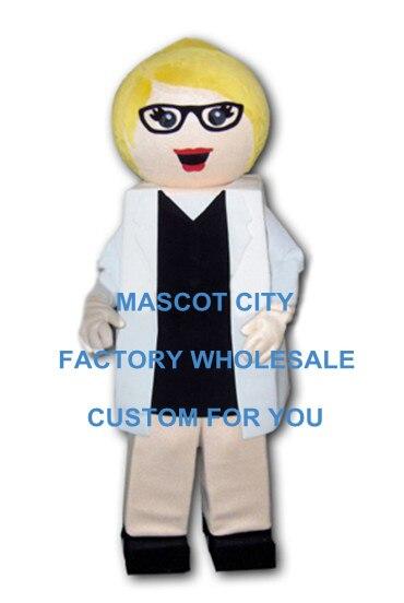 Femme médecin Mascotte Costume taille adulte personnage humain Mascotte Mascota carnaval fête Cosply déguisements Costumes Costume SW1130