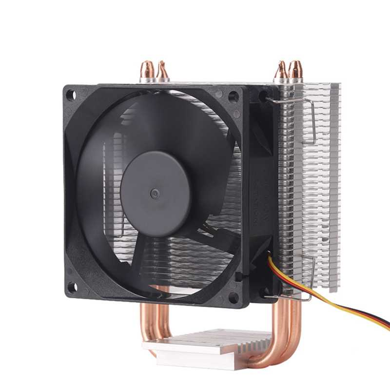 8Cm 2 Pipa Panas 3 Pin Kipas Tunggal Tanpa Cahaya CPU Fan Cpu Heatsink untuk Intel 775/1150 /1155/1156/1366 untuk ADM Semua