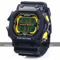 2016 30 m Waterproo Masculino Multifuncional LED Sports Watch Rodada Digital Esportes Relógio Com Pulseira de Plástico & Alarm Clock 83332G
