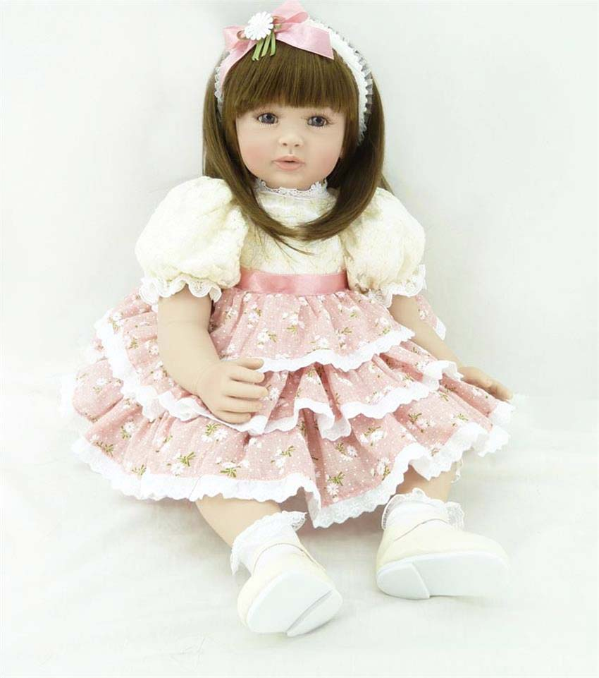 Pursue 24/60 cm Baby Alive Silicone Reborn Toddler Baby Girl Doll Toys for Children Girls House Play Bedtime Fun Doll Toy Gift handmade 18 cute china girl doll reborn baby doll sd bjd doll best bedtime playhouse toy enducational toy for girls as gift