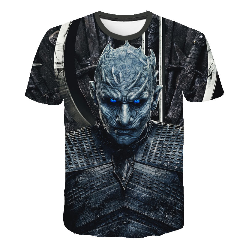 2019 Summer Autumn Game of Thrones figure cosplay costume tshirt tee shirts Loose Fit Casual Men Coat Brand-Clothing 3d t-shirt image