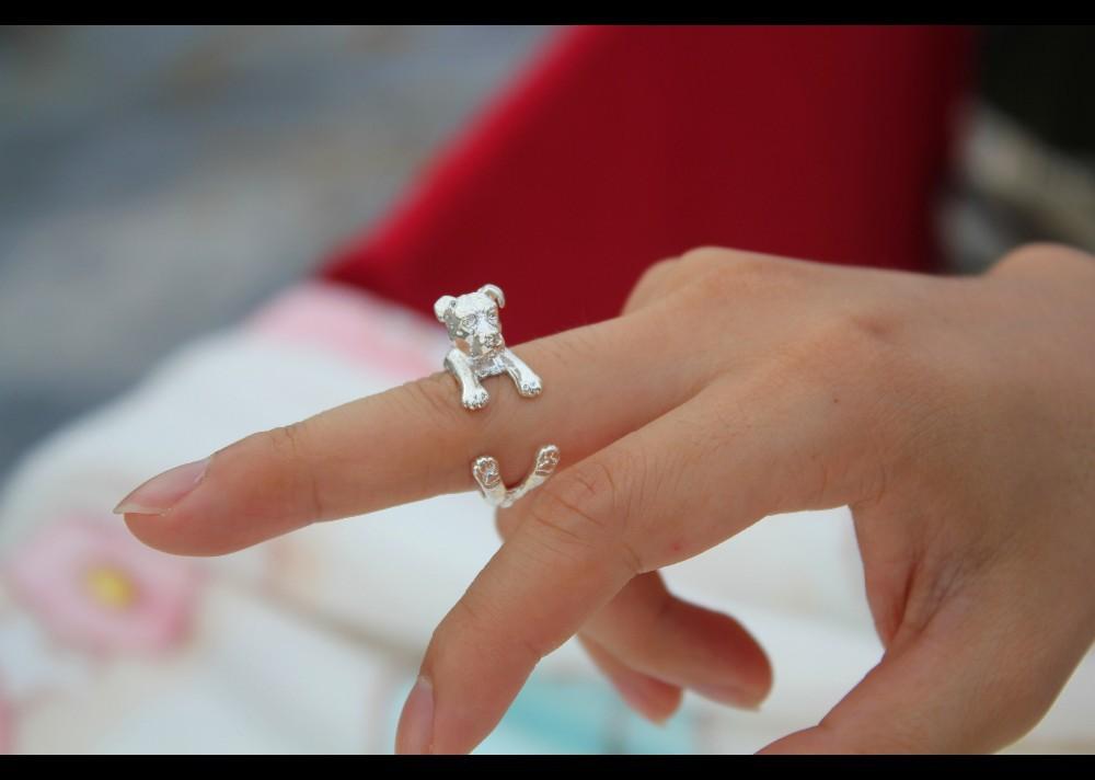 Кольцо в стиле панк американок питбултерье кольцо виде животного