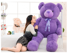 stuffed toy huge 160cm purple teddy bear plush toy silk belt bear doll soft hugging pillow,Valentine's Day gift c618