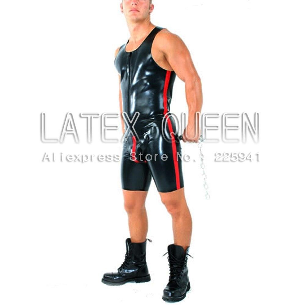 Men's fashion sheathy latex maillot apparel
