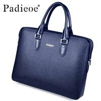 Padieoe Для мужчин новая мода Пояса из натуральной кожи Портфели высокое качество сумка Бизнес сумки коровьей сумка для ноутбука