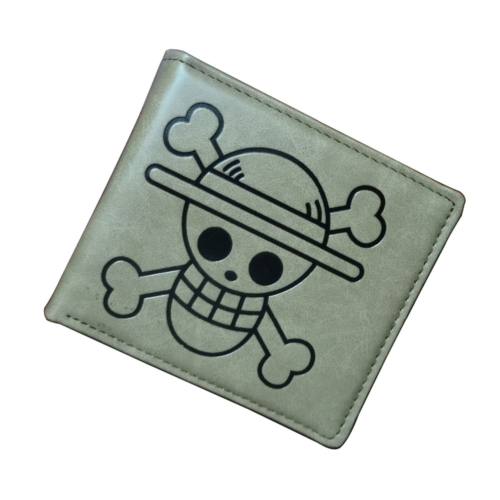 Cartoon One Piece Wallet Luffy Strawhat Onepiece Anime Bags Boy Girl Gift Purse PU Leather Short Wallets
