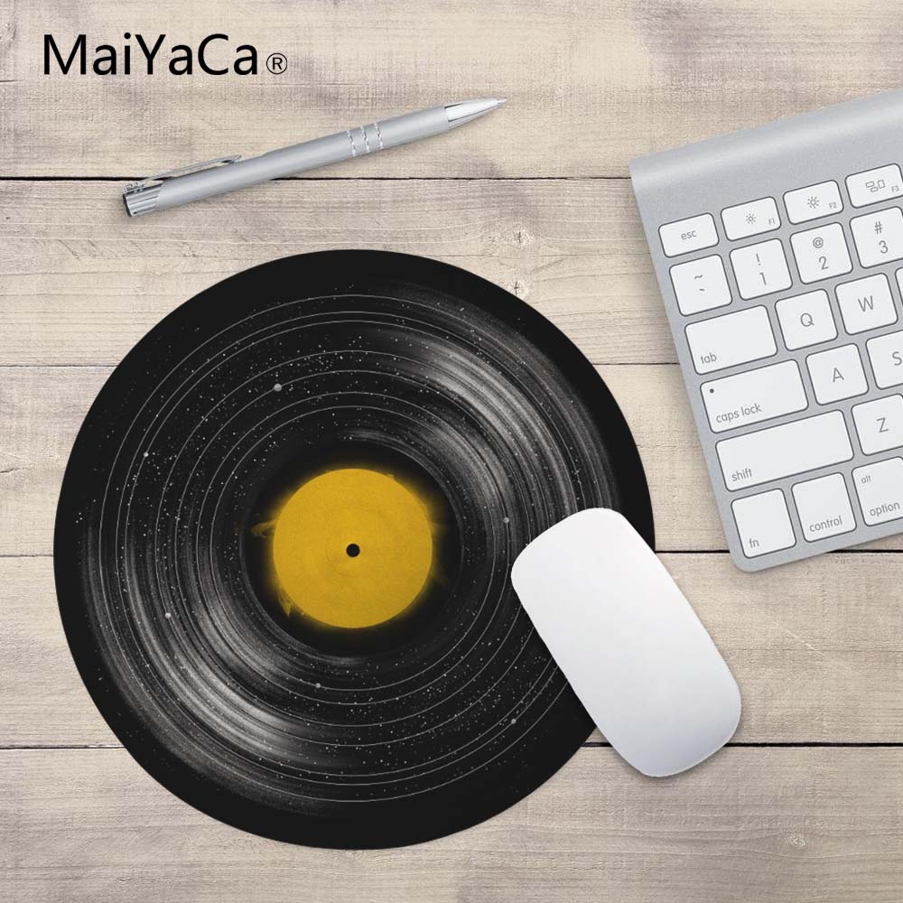 MaiYaCa sound system prints Mouse Pad Small Size Round Gaming Non-Skid Rubber Pad beautiful design non slip rubber gaming oblong mouse pad