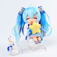 10CM Hatsune Miku Anime Figure Snow Hatsune Dolls Action Figure Multiple Accessories Nendoroid Cute Dolls with Box F139