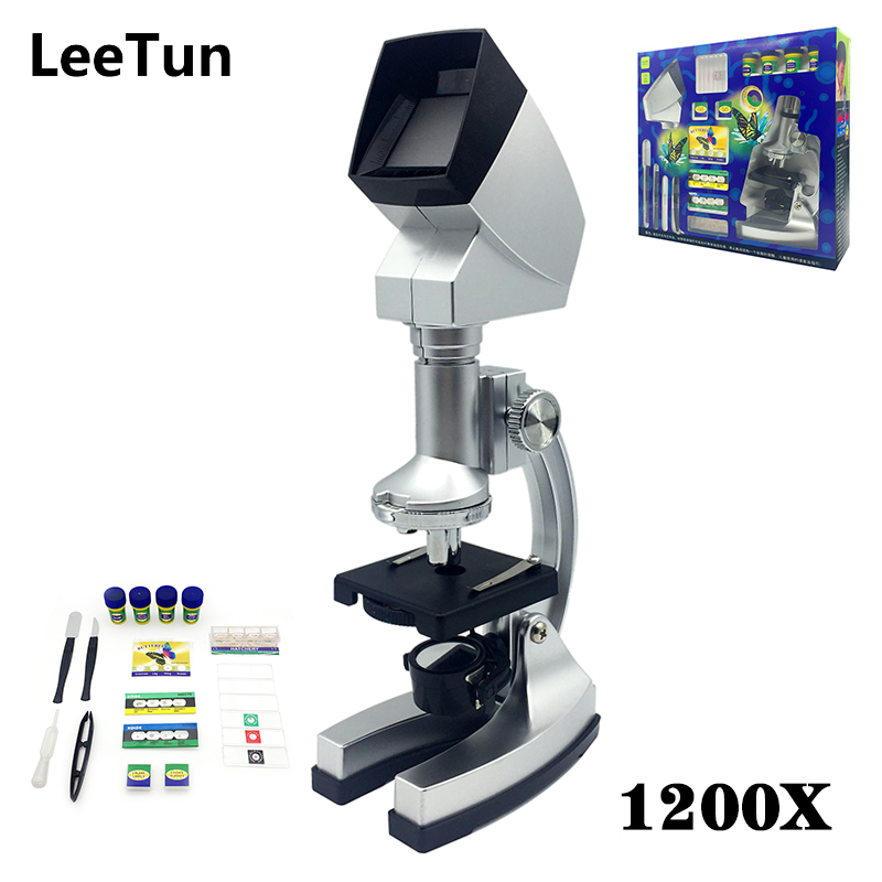 1200X Science Microscope Set Intelligence Educational Experiment Toy Biological Observation Microscope for Students Kids Gift цена