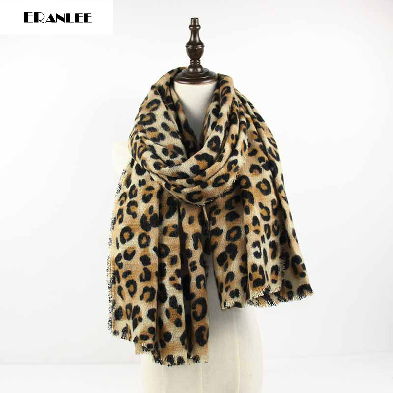 Fashion High Quality Women Scarf Leopard Print Cashmere Scarf Winter Scarf Luxury Brand Echarpe Hiver Femme pashmina Scarves