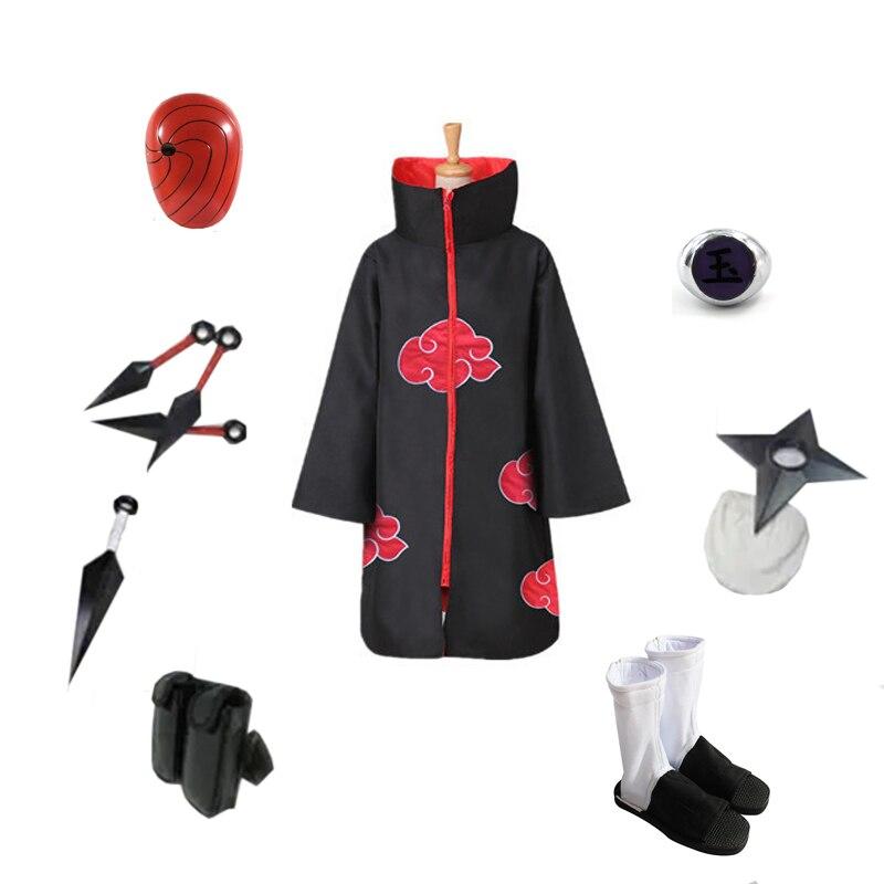 Akatsuki costume itachi uchiha itachi obito cosplay halloween cloak naruto anime