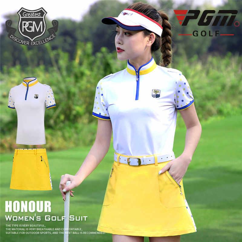 PGM Новая женская футболка для гольфа с коротким рукавом спортивная одежда корейские Топы Весенняя летняя спортивная одежда