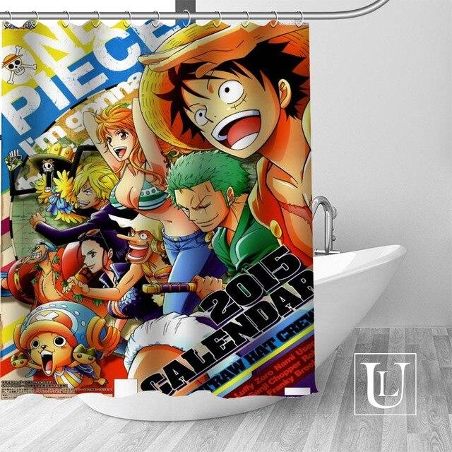 Custom Hot Anime One Piece Luffy Roronoa Zoro Nami Shower Curtain Adventure Team