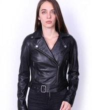 VAINAS Brand Women Genuine leather jacket for women Real leather jacket Motorcycle jackets Biker jackets Nelly