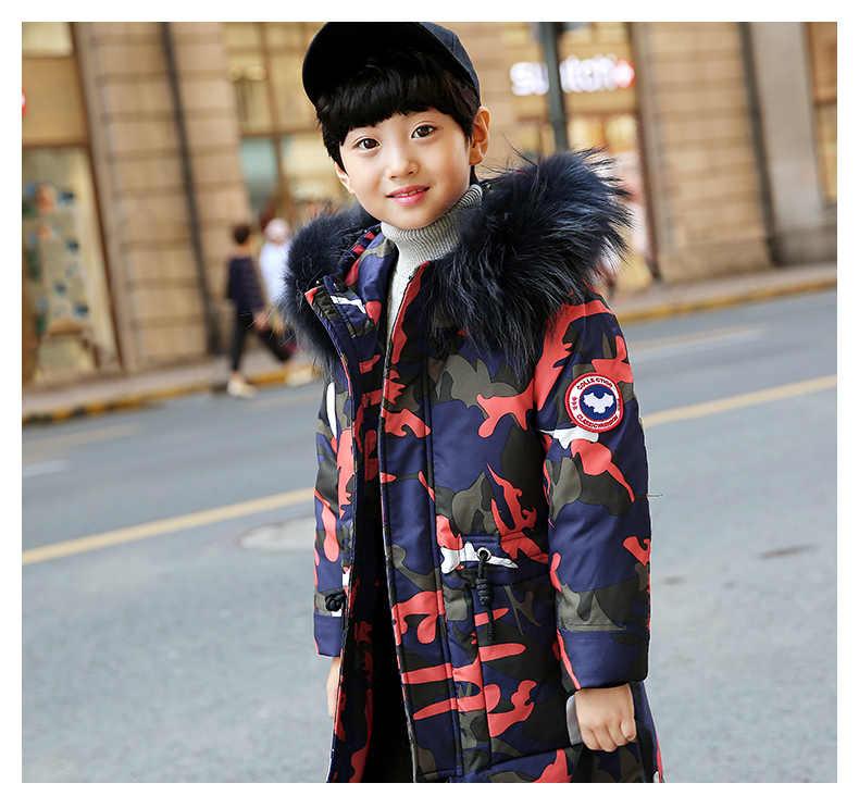 b19dc12151dd ... 2018 Children Winter Jacket For Boy 5-12 Years Kids Boy Coat Winterjas  Jongen Doudoune ...