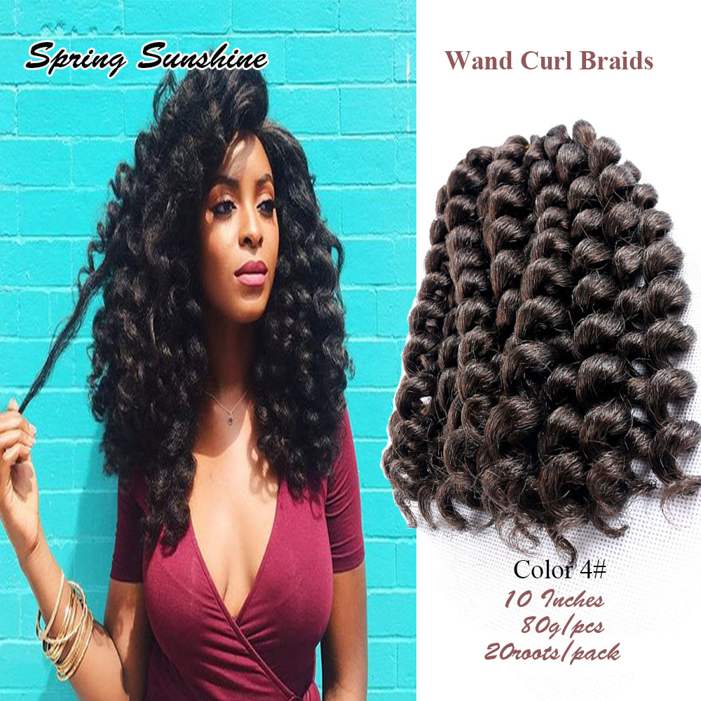 10 Inches African Jumpy Wand Curl Twist Synthetic Twist
