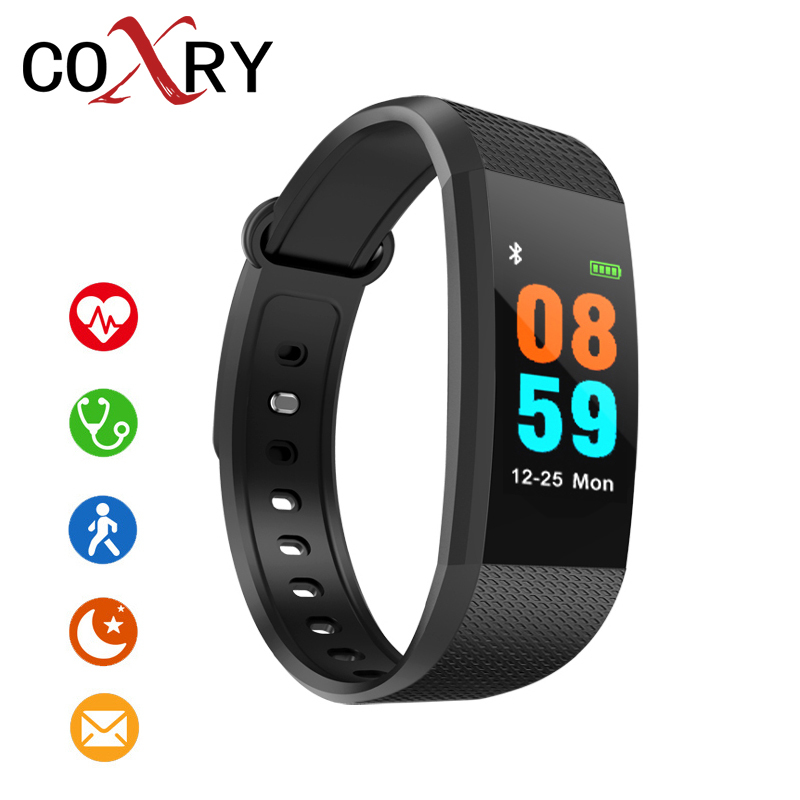 COXRY Fitness Smart Watch Women Android Sport Watches For Men Pedometer Digital Watch Blood Pressure Calorie Counter Wrist Watch coxry fitness smart watch women digital watches blood pressure sports heart rate pedometer sleep led calorie counter wrist watch