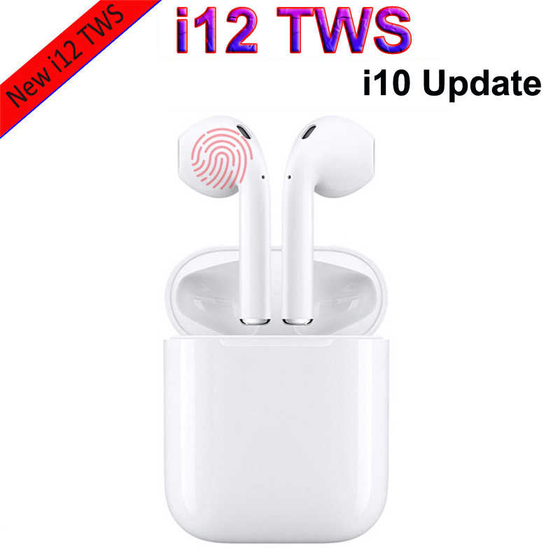 3f1e712c328 Original i12 i10 TWS Wireless Bluetooth Earphones Touch control Headset 3D  Stereo Earbudss Charge case for