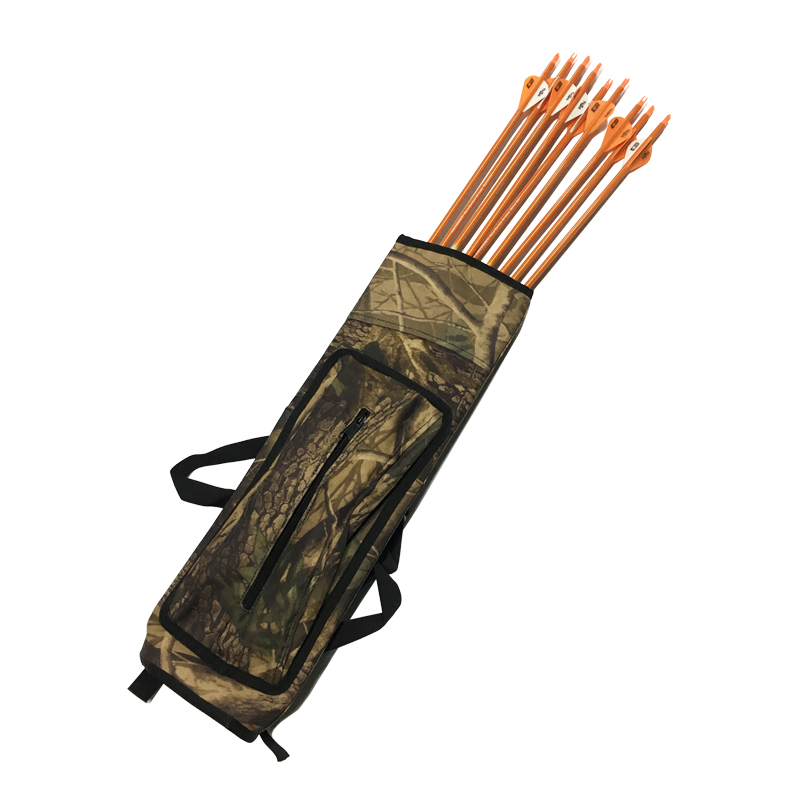 Camo Quiver Arrow Bag 40pcs Arrow Holder Arrows Back or Waist Strape Hunting Quiver Archery Equipment Accessories Shooting dmar archery quiver recurve bow bag arrow holder black high class portable hunting achery accessories