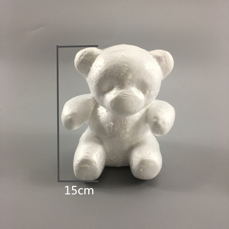 2019 Diy Craft Toy White Foam Bear Rabbit Dog Polystyrene Styrofoam Modelling Rose Bear Embryo Foam Core Valentines Day Present Arts & Crafts, Diy Toys