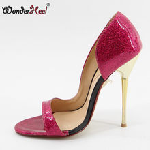 Wonderheel On Sale Extreme high heel appr.13cm stiletto heel peep toe Sexy High Heel slip on fashion women pumps size US8.5(China)