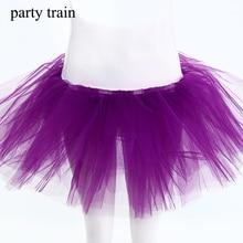 2017 Time-limited Voile Fashion Solid Classic Tulle Skirt Midi Knee Length Grunge Jupe Female Mini Tutu Adult Petticoat