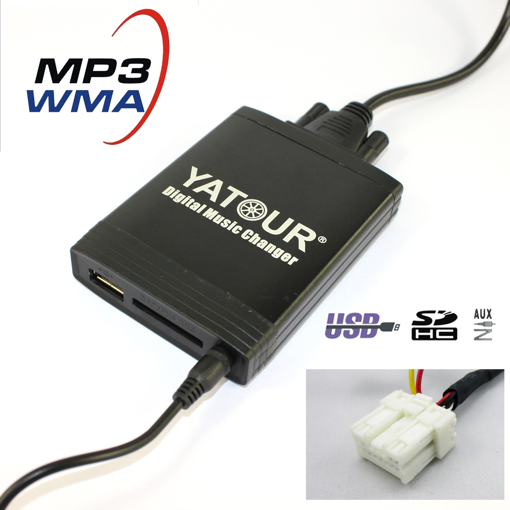 Yatour car Digital music changer YT-M06 For Nissan / Infiniti Car MP3 interface USB SD MP3 SD AUX adapter interface cd changer yatour digital music car audio for nissan xtrail teana patrol cd changer adapter bluetooth usb sd aux mp3 media player interface
