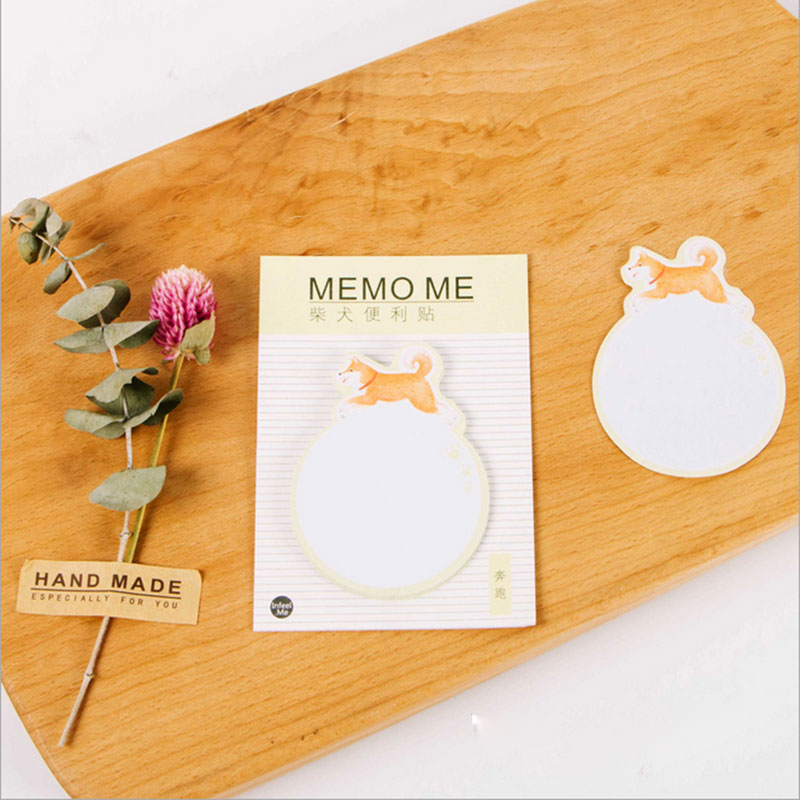 2pcs/lot DIY Cute Lovely dog Week plan Memo Pad Sticky Note Kawaii Paper Sticker Pads Post Note Creative Korean Stationery