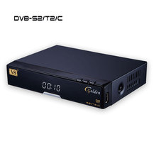 Digital Satellite TV Receiver V8 golden instead of V8 Pro DVB-S2 DVB-T2 Cable support cccam Powervu Youtube via wifi