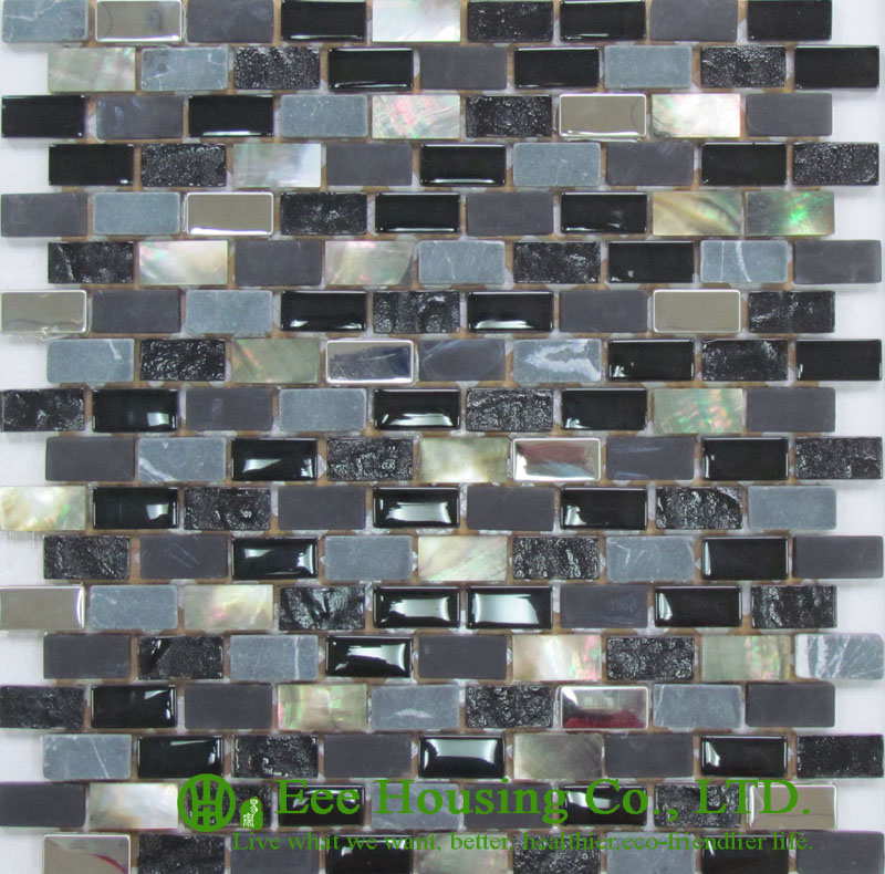 200mm*200mm Shell Series Mosaic Tile Factory In China, Shell Mosaic Tiles For  Floor And Wall