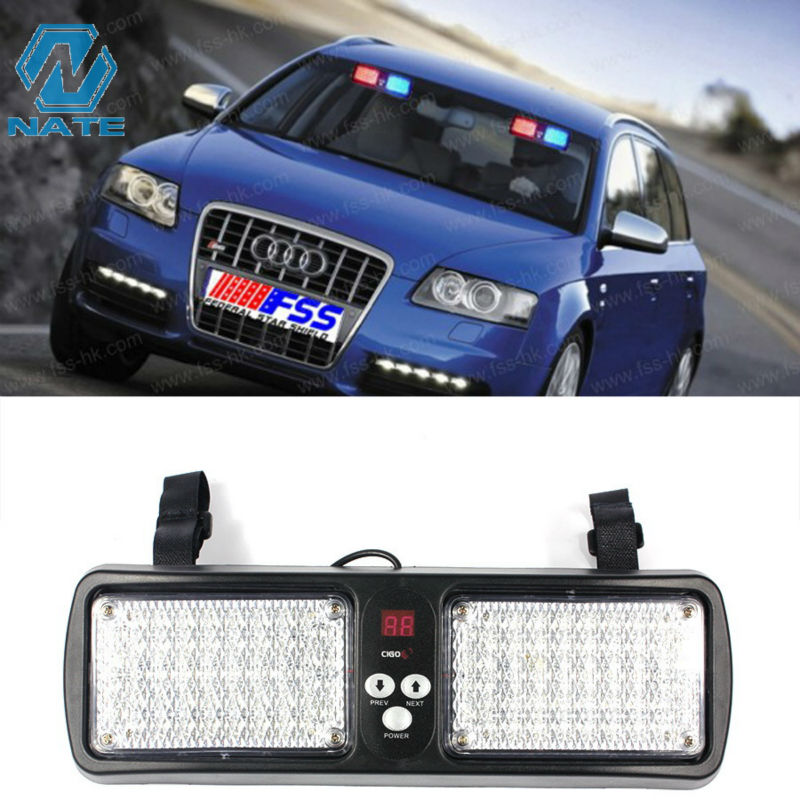 New Bright Car Truck Emergency CD sun Visor Strobe Flash Light 86 LED  police lights Flashing lamp 1d7ddc5adc7
