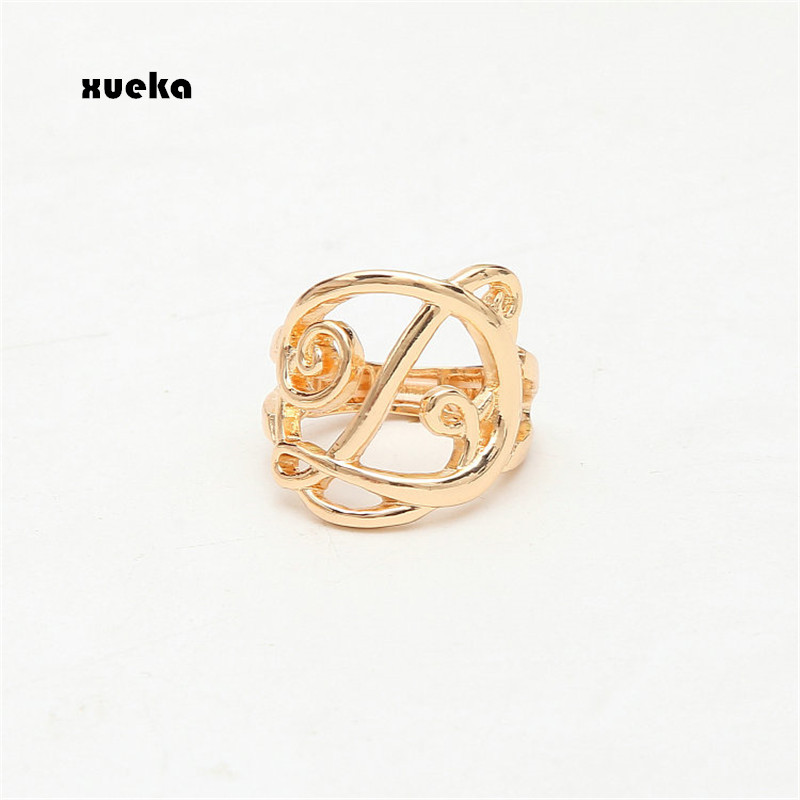 2017 Xueka Fashion Gold Silver Adjustable Rings For Women Letter Ring Men Jewelry Wedding Punk bague femme