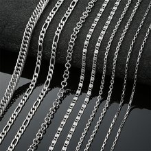 AZIZ BEKKAOUI Fashion Link Chain Choker Necklace For Men Women Stainless Steel Silver Necklace Mens Box Chains Gift 45-70cm(China)