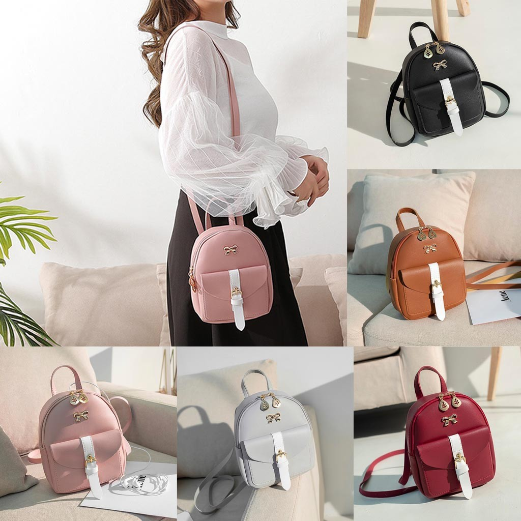 HTB1y6SbNbPpK1RjSZFFq6y5PpXao Convenient fashion Travel Fashion Lady Shoulders Small Backpack Letter Purse Mobile Phone mochilas Canta