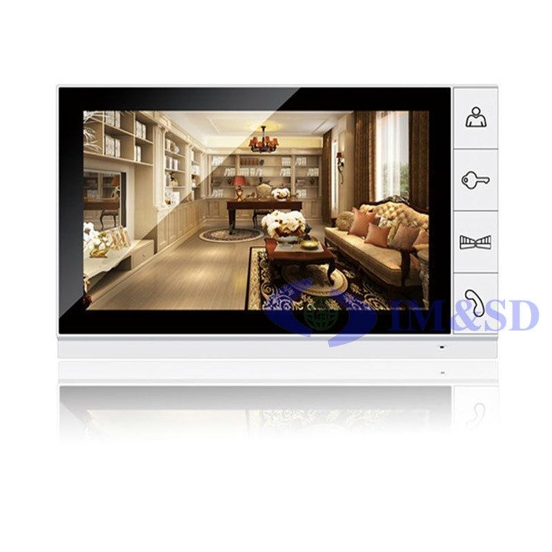 Nouvelle maison 9 pouces couleur TFT numérique 16:9 affichage 800x480 LCD écran large moniteur pour interphone vidéo interphone vidéo sonnette