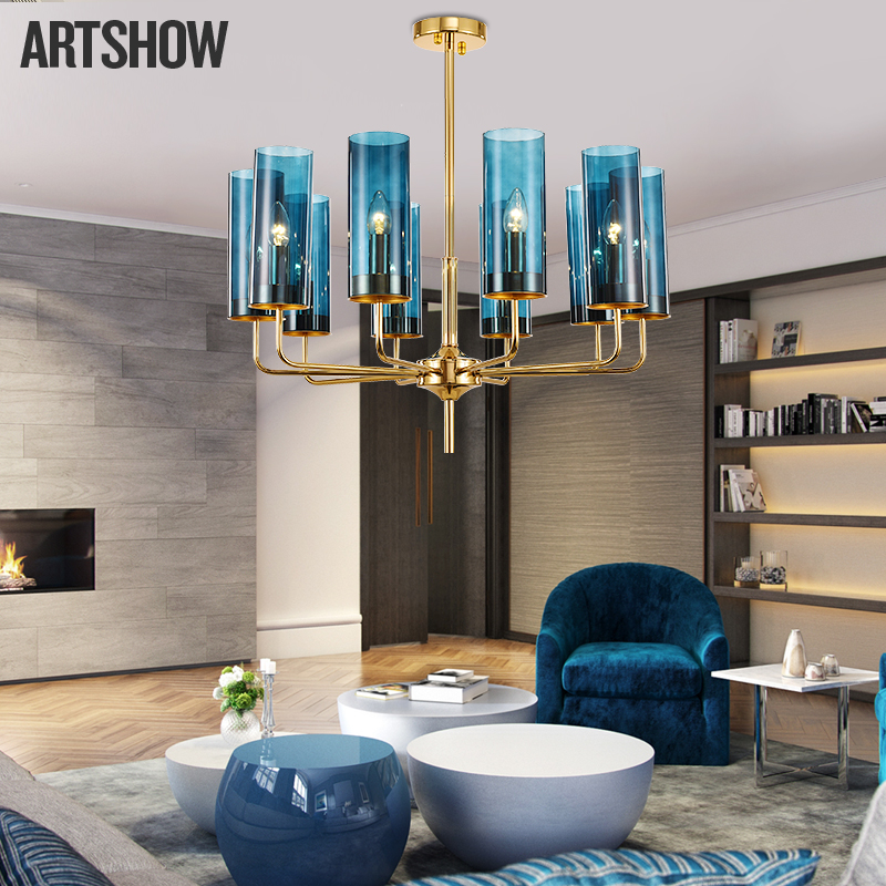 Post-modern LED chandeliers ceiling novelty pendant lamp Nordic fixtures hotel suspension luminaire restaurant hanging lighting