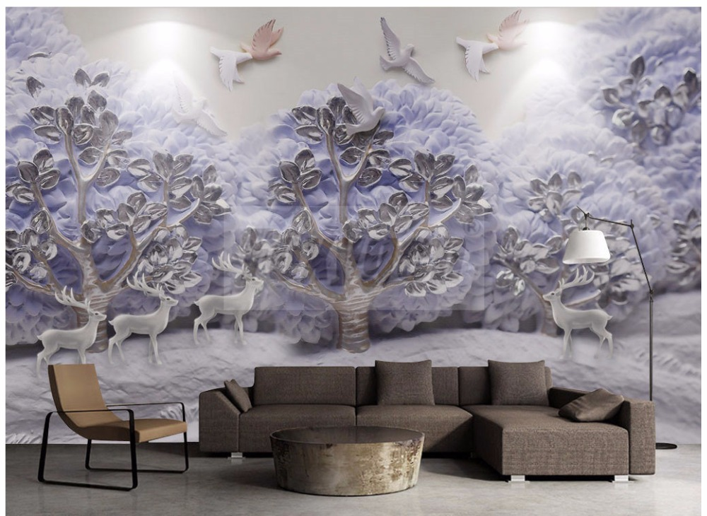 Custom photo Art wallpaper 3D FLower Designs TV background 3d mural wall paper
