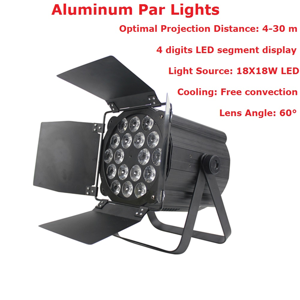 Aluminum Par 18X18W RGBWAP 6IN1 LED Stage Lights Flat Par Lights DMX512 Control For Disco Dj Projector Party Carnival DecorationAluminum Par 18X18W RGBWAP 6IN1 LED Stage Lights Flat Par Lights DMX512 Control For Disco Dj Projector Party Carnival Decoration