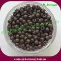 ( 1000 pçs/saco, 2.9 x 1.6 x 2.0 mm ) Medium Brown de cobre com Silicone extensões de cabelo Nano