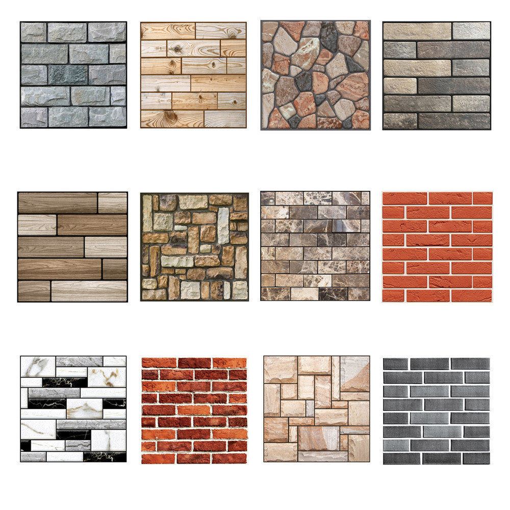 Hot Sale 3D Wallpaper Wall Sticker Wall Decor Embossed Brick Simulation Tile Wall Sticker 30 X