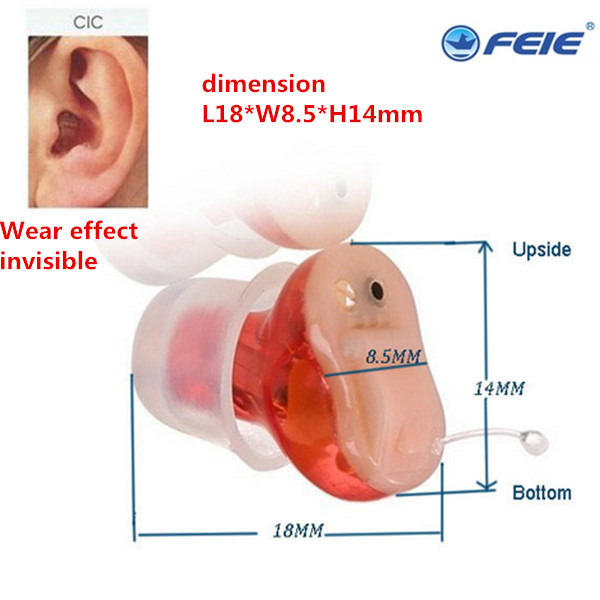 Micro Ear CIC Hearing Aid 6 channel Digital Programmable Audiogram Audiometry Ear Amplifier S-16A Medicos Aparat Free Shipping devices for hearing mini digital hearing aid voice recorder minds aparelho auditivo 6 canais s 16a free shipping