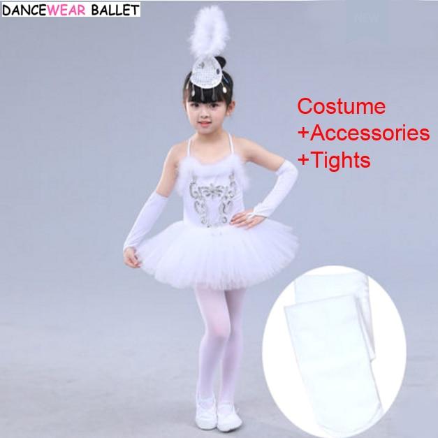 c12ccb1d0794 Girls Ballet Dress Child White Swan Lake Dance Costume Kids Girls ...