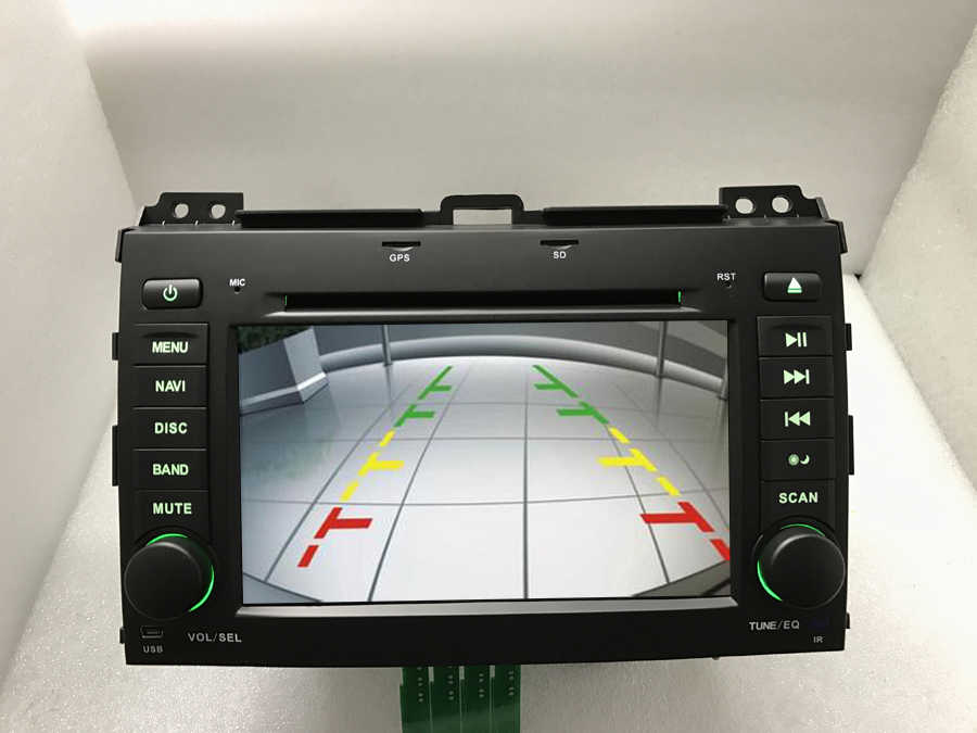 BYNCG samochodowy odtwarzacz dvd odtwarzacz GPS 2 Din 7 ''multimedialny radioodtwarzacz samochodowy kamera cofania mapa dla toyota land cruiser prado 120 2002-2009