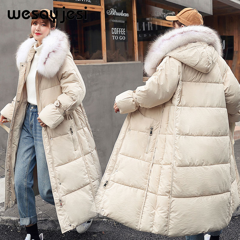 Autumn Winter Jacket Women Coat 2019 New Long Hooded Zipper Double Warm Women Jacket Winter Fur   Parka   Casua Streetwear Overcoat