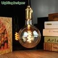 Vintage led edison filament bulb golden G125 Edison bulb led 4w vintage type soft LED filament 4W dimmable 220V240V E27 Amber