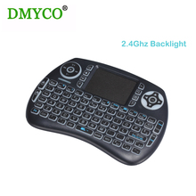 92 keyboard Backlight gaming keyboard air mouse USB Mini Wireless keyboard with TouchPad for Pi 3, Android TV Box , PC and table