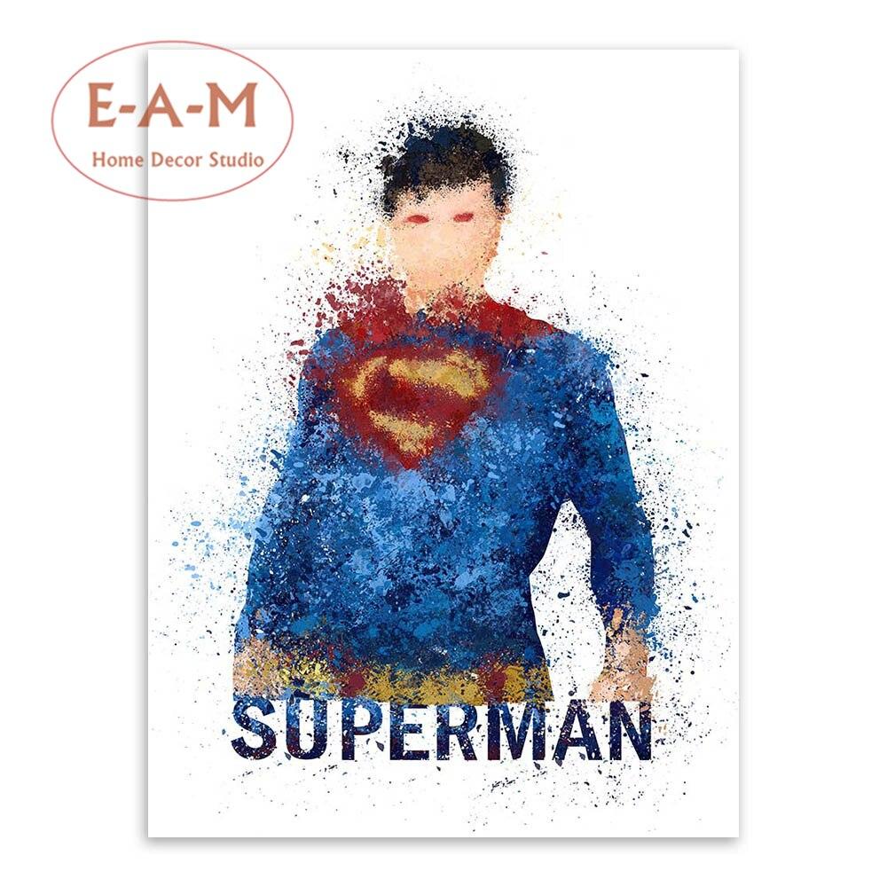 E-A-M Superheroes Splash Canvas İncəsənət Çap Rəsm Afişası - Ev dekoru - Fotoqrafiya 4